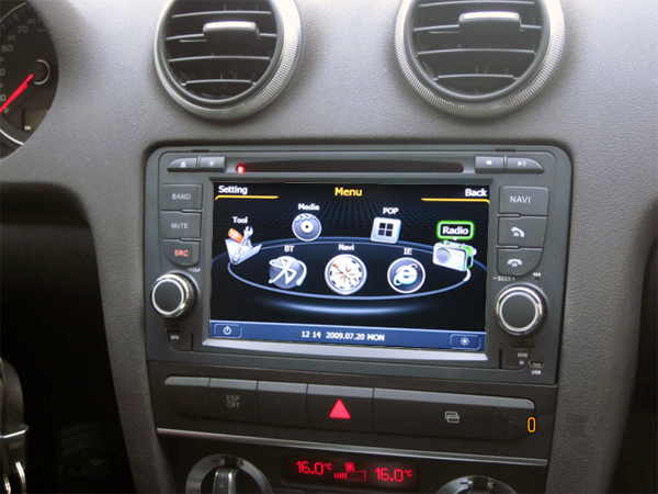 Car Dvd Player Gps Audi A3 S3 Rs3 With Touch Screen Bluetooth