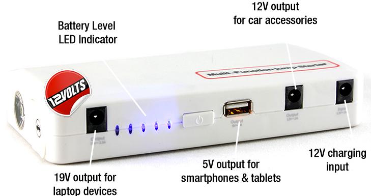 batterie multi function kit de d marrage d 39 urgence pour voiture batterie externe pour. Black Bedroom Furniture Sets. Home Design Ideas