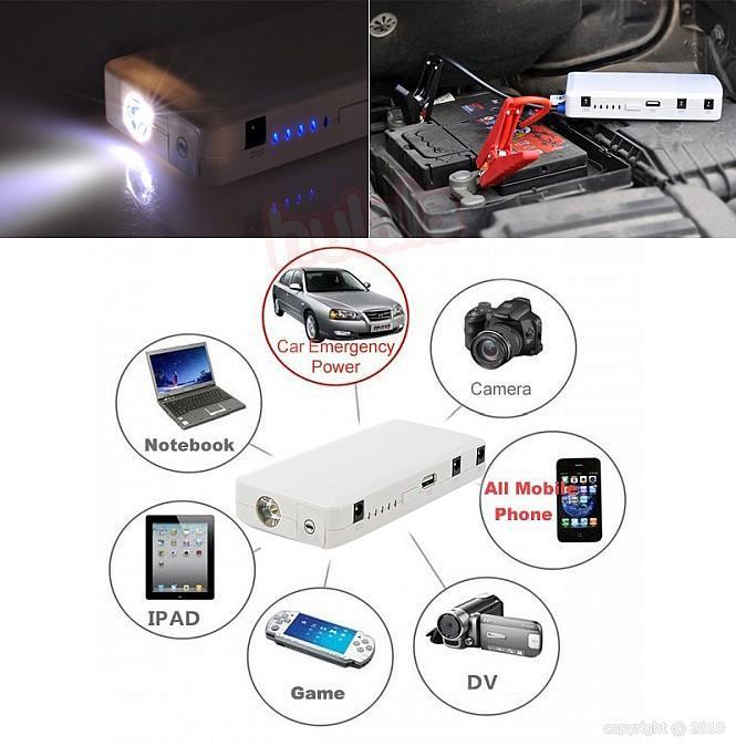 multi funktions batterie starter kit auto notfall externe batterie f r mobile ger te carjump. Black Bedroom Furniture Sets. Home Design Ideas