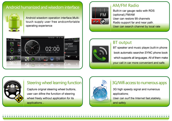 Volvo XC60 ANDROID 3G WIFI Car radio GPS 3G WIFI ANDROID TV